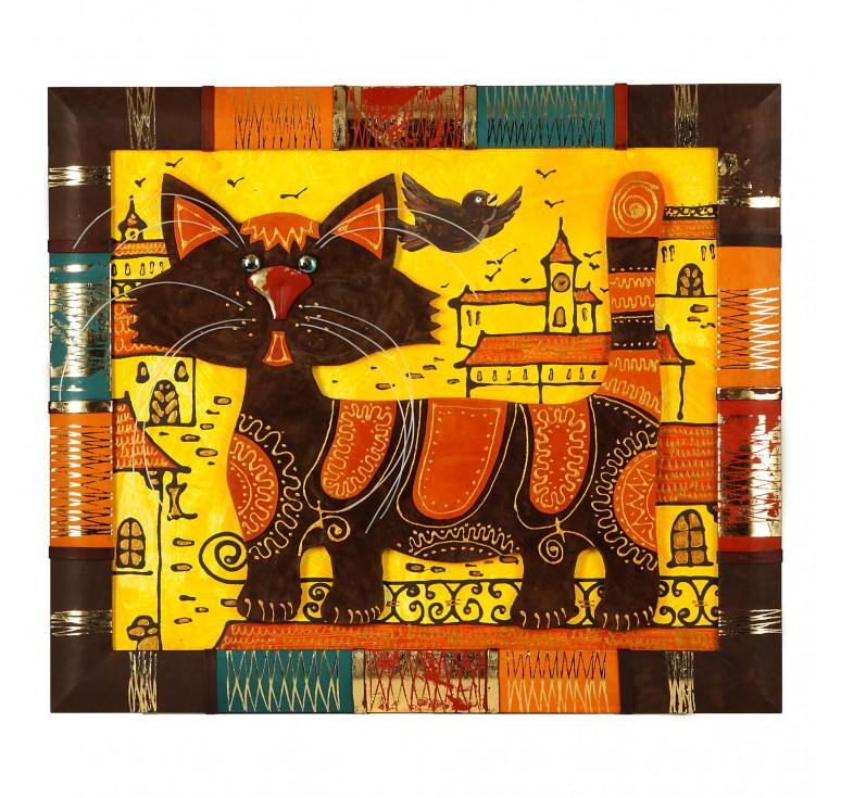 Панно «Кот на крыше»