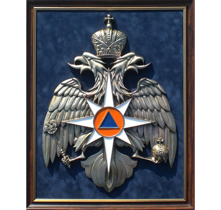 Плакетка «Эмблема МЧС России» большая