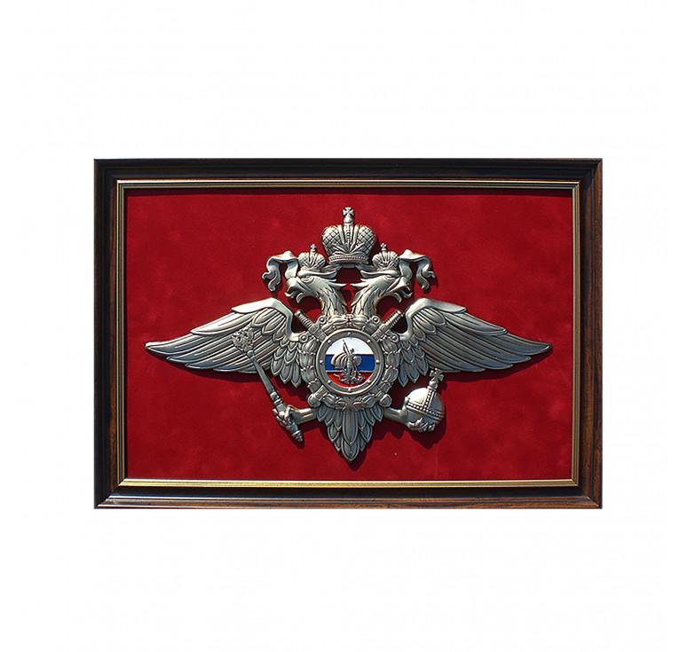 Плакетка «Эмблема Министерства внутренних дел РФ» (МВД России) большая