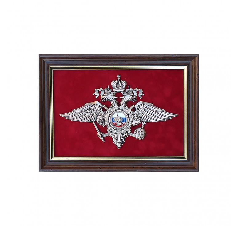 Плакетка «Эмблема Министерства внутренних дел РФ» (МВД России) малая