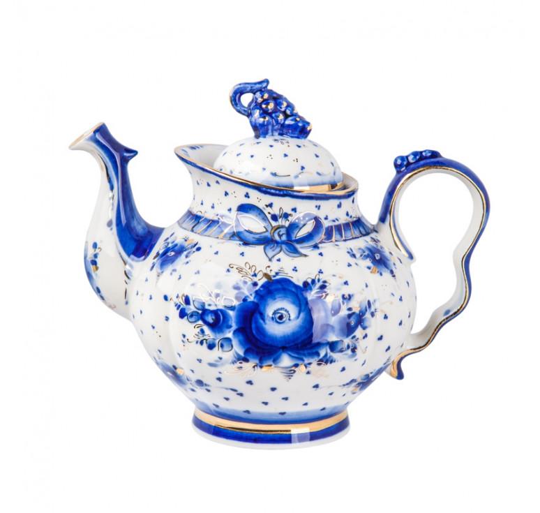 Сервиз чайный Голубая рапсодия (золото)