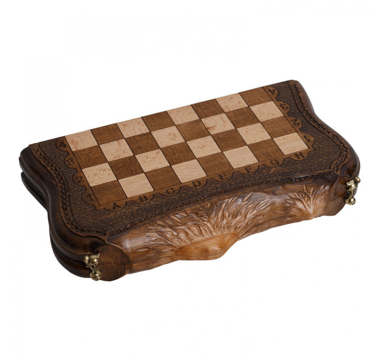 Шахматы + Нарды резные «Арарат» 30, Ohanyan