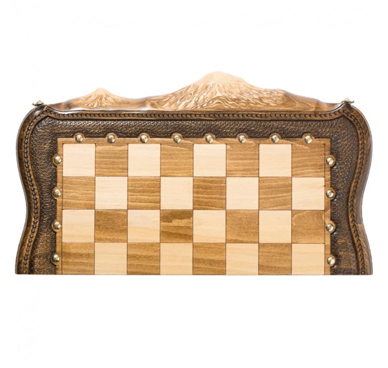 Шахматы + Нарды резные «Арарат» с бронзой 50, Ohanyan