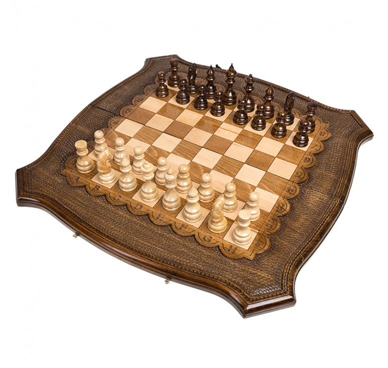 Шахматы + Нарды резные «Роял» 60, Ohanyan