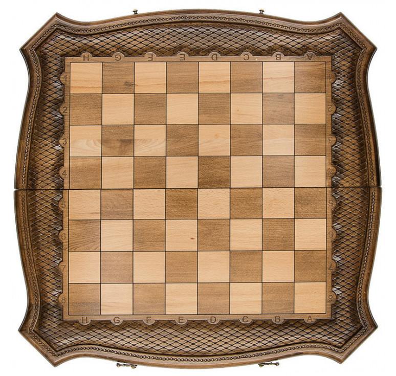 Шахматы+нарды резные «Роял 2» 60, Ohanyan