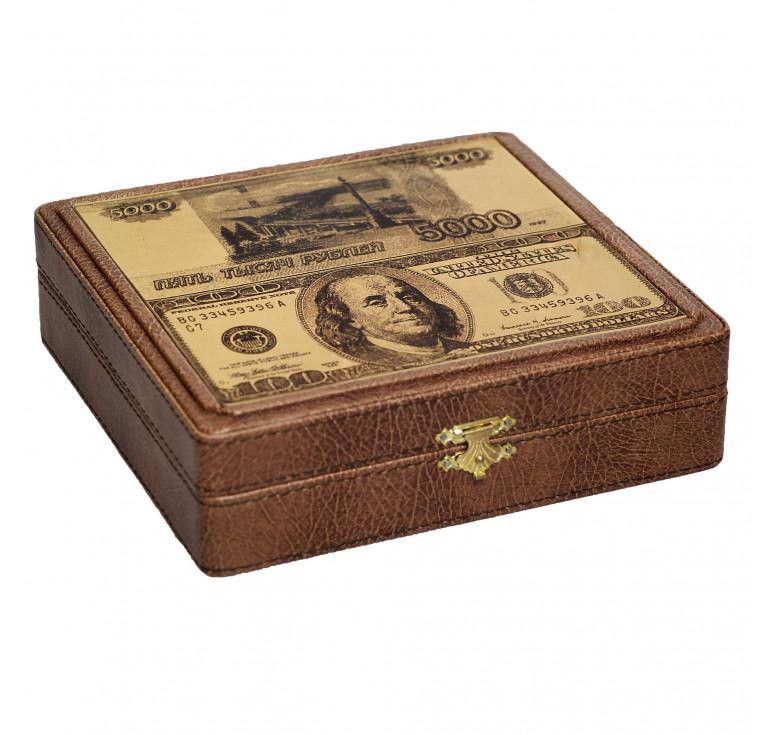 Шкатулка для денег «Рубли-Доллары»