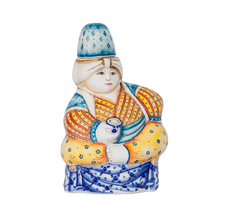 Штоф Султан (подглазурные цветные краски, кобальт)