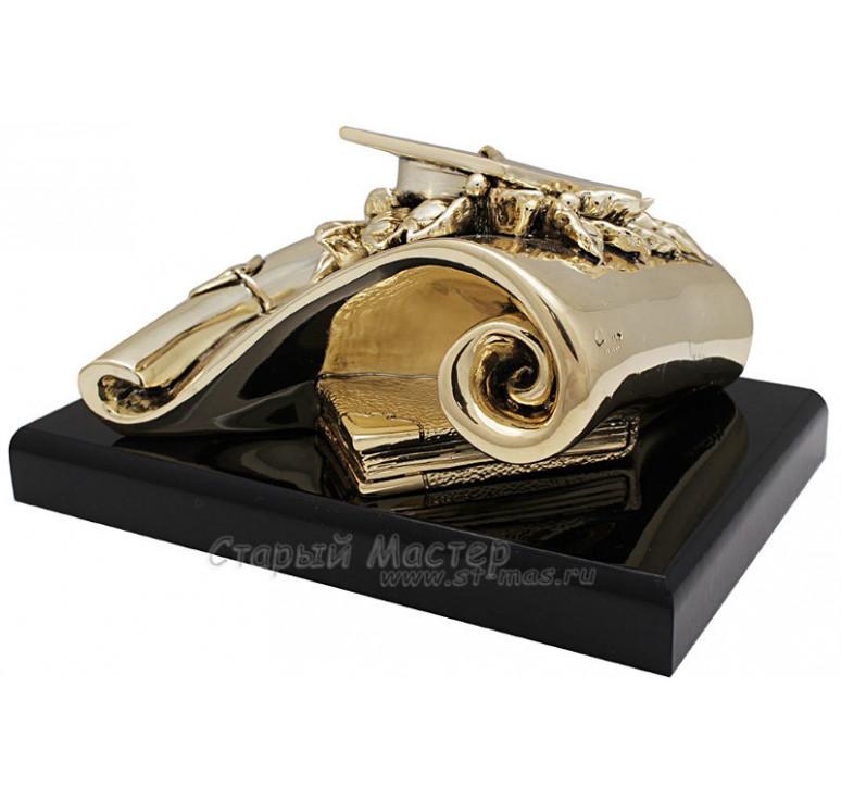 Скульптура «Лауреат» с позолотой