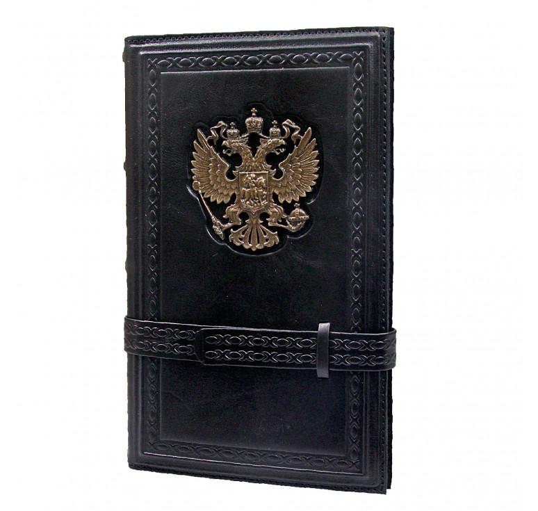 Визитница настольная «Россия» черная